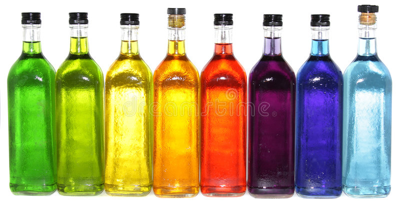 Colorful Bottles Royalty Free Stock Image