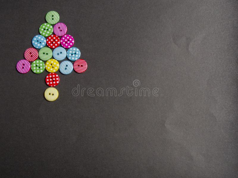 Colorful bottons with tree shape royalty free stock photos