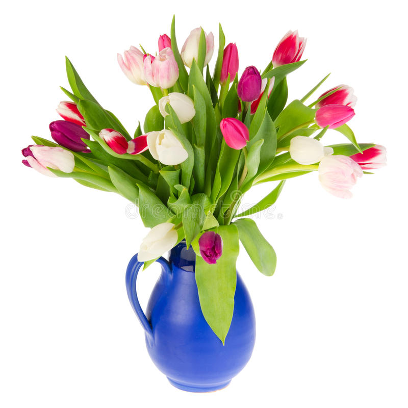 Colorful Bouquet Tulips Stock Photo
