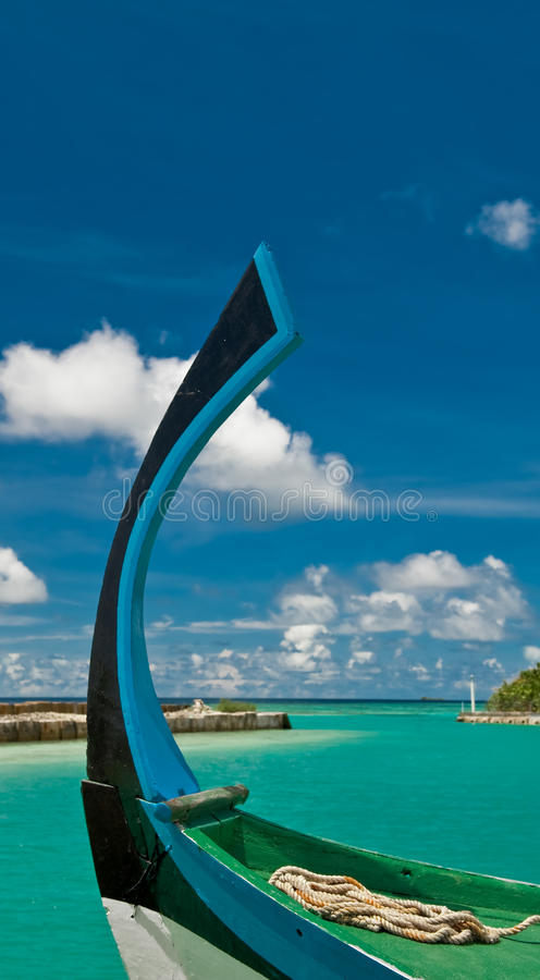 Download Colorful Bow Of A Traditional Dhoni Stock Image - Image: 14516435