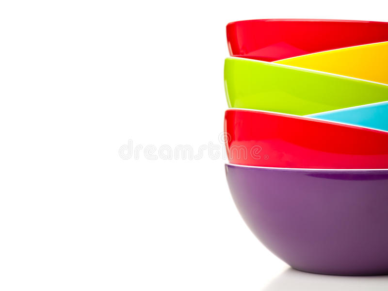 Download Colorful bowls stock image. Image of white, yellow, group - 25974495