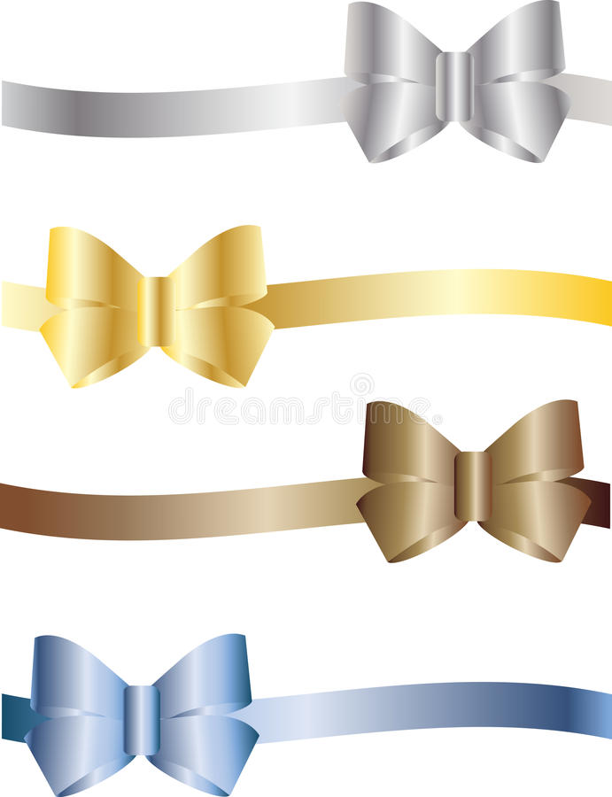 Free Colorful Bows Royalty Free Stock Image - 13994156