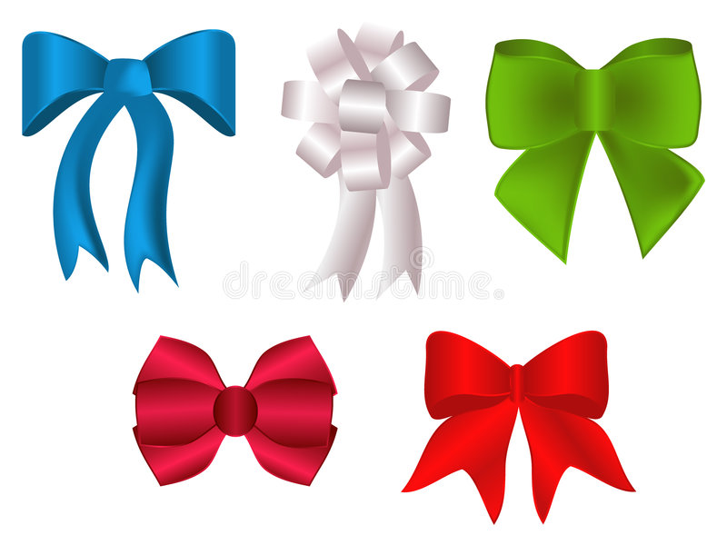 Download Colorful bows and rosette stock vector. Image of vivid - 7563140