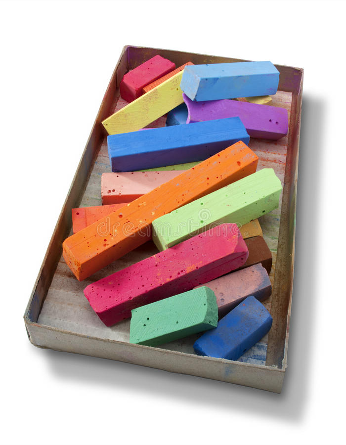 Free Colorful Box Of Color Pastels Royalty Free Stock Photos - 29607198