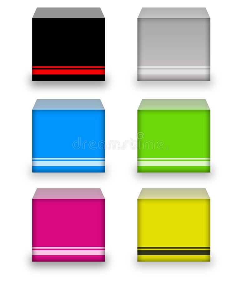 Download Colorful Boxes stock illustration. Illustration of background - 10556712