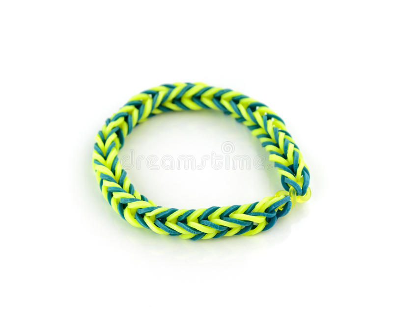 Colorful bracelet rubber band royalty free stock photos
