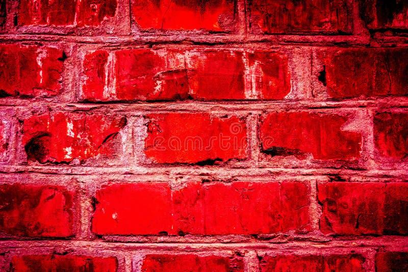 Colorful brick wall pattern, painted bricks as urban texture stock image