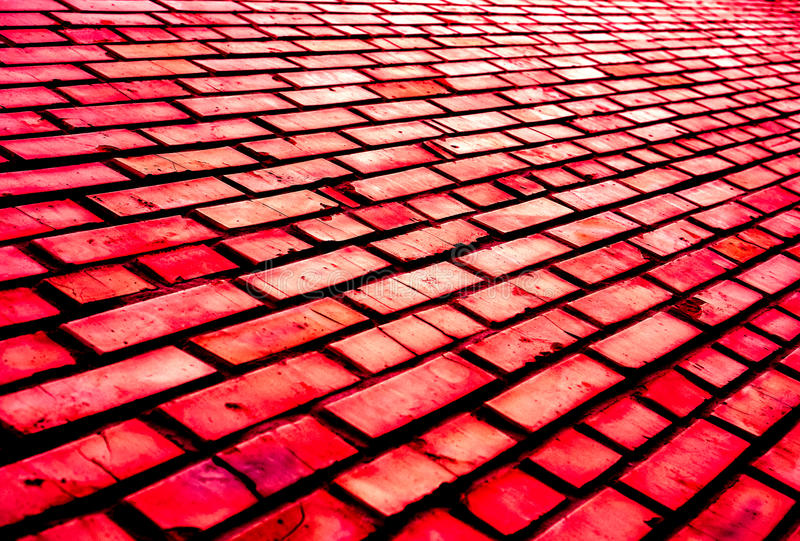 Colorful brick wall pattern, painted bricks as urban texture royalty free stock images