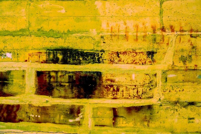 Colorful brick wall pattern, painted bricks as urban texture stock photos