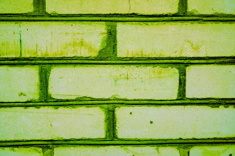 Colorful brick wall pattern, painted bricks as urban texture stock images