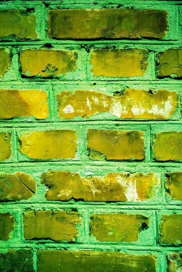 Colorful brick wall pattern, painted bricks as urban texture royalty free stock photo