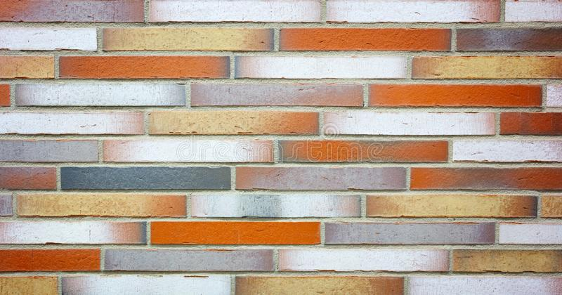Colorful brick wall structure texture background stock images