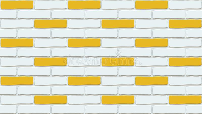 Colorful brick wall texture. Empty background. Vintage stonewall. Room design interior. Backdrop for cafe. royalty free illustration