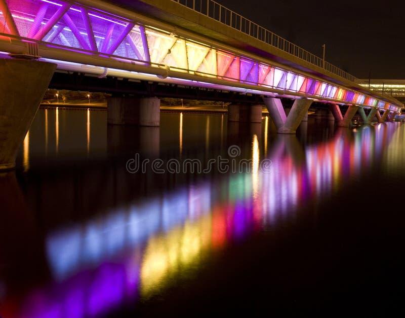 Colorful Bridge in Tempe Arizona royalty free stock photography