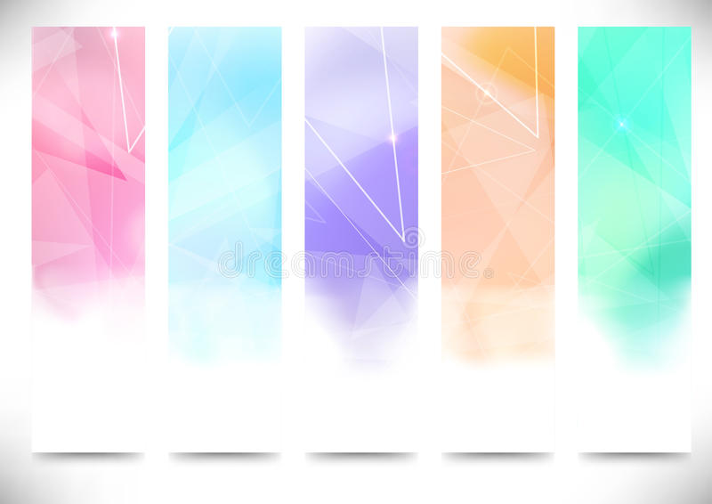 Colorful bright modern flyers collection stock illustration