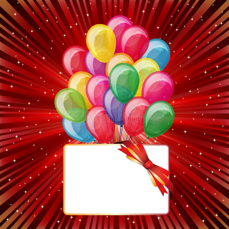 Colorful Brightly Backdrop With Balloons Stock Photography