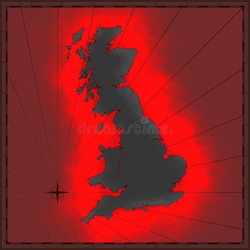 Colorful British map