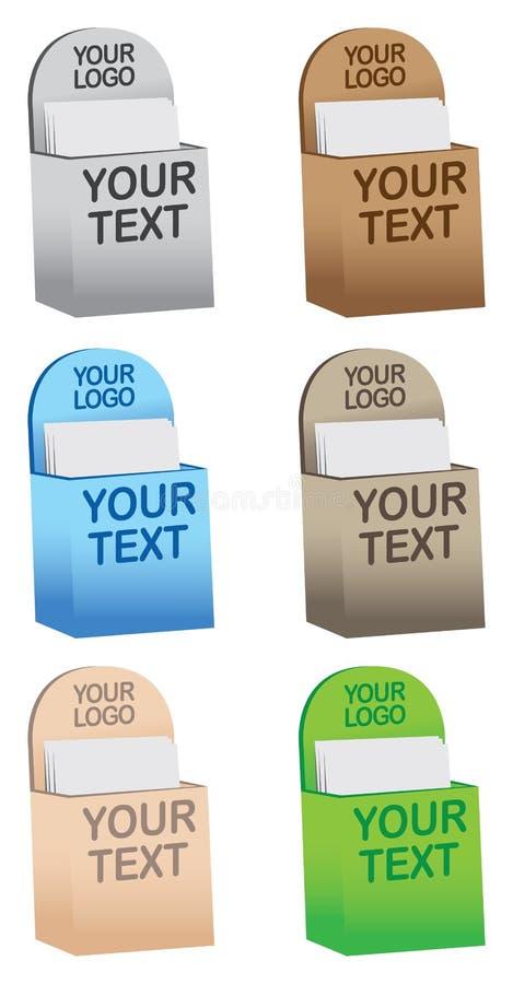 Download Colorful Brochure/ Flyer Holders Stock Vector - Illustration: 27049349