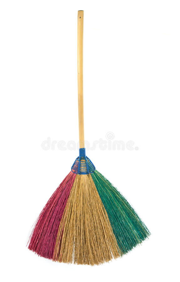 Download Colorful Broom isolated stock photo. Image of domestic - 39506744