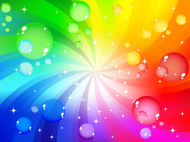 Colorful bubble background. Vector of colorful bubble background royalty free illustration