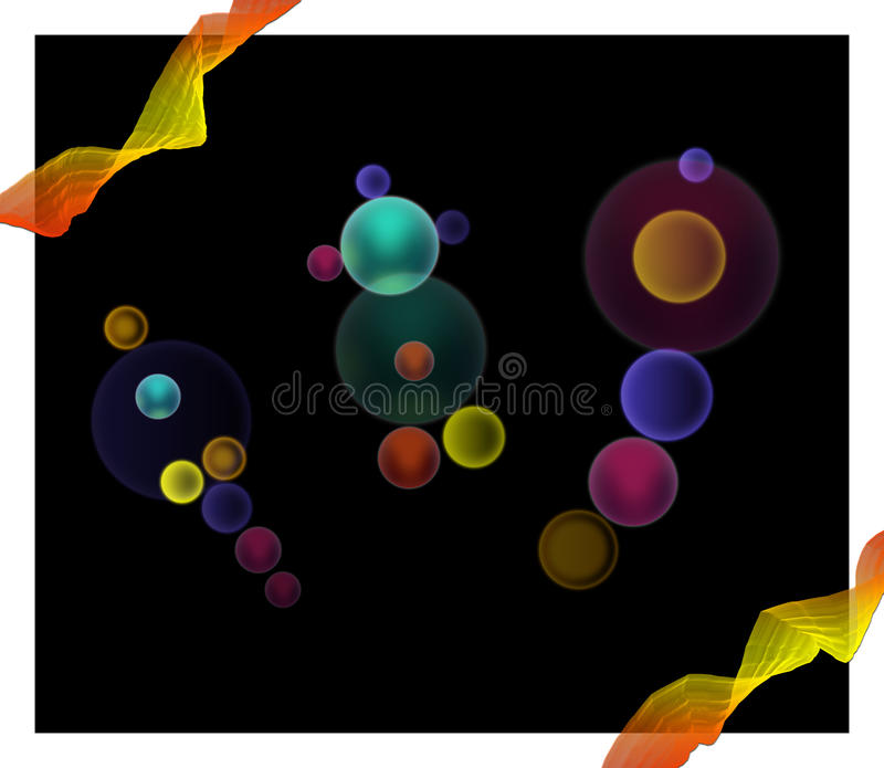 Colorful bubbles background vector illustration