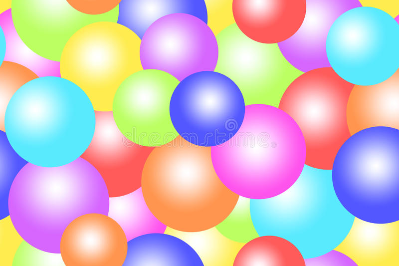 Colorful bubbles / balls / circles background stock images
