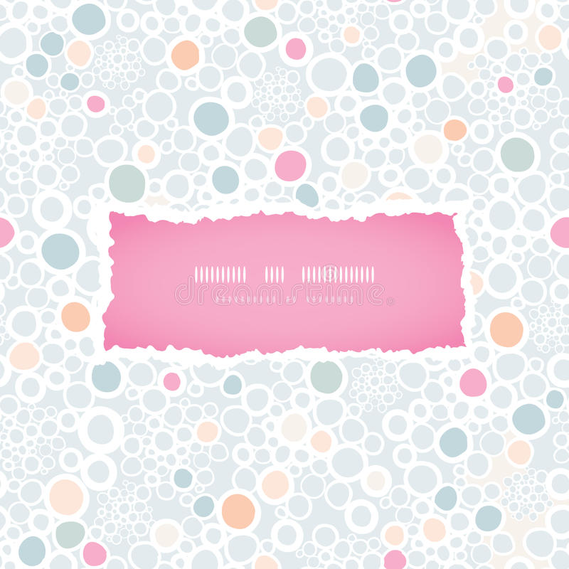 Colorful bubbles frame seamless pattern background. Vector colorful bubbles frame seamless pattern background with hand drawn elements royalty free illustration