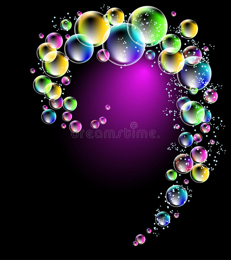 Colorful bubbles vector illustration