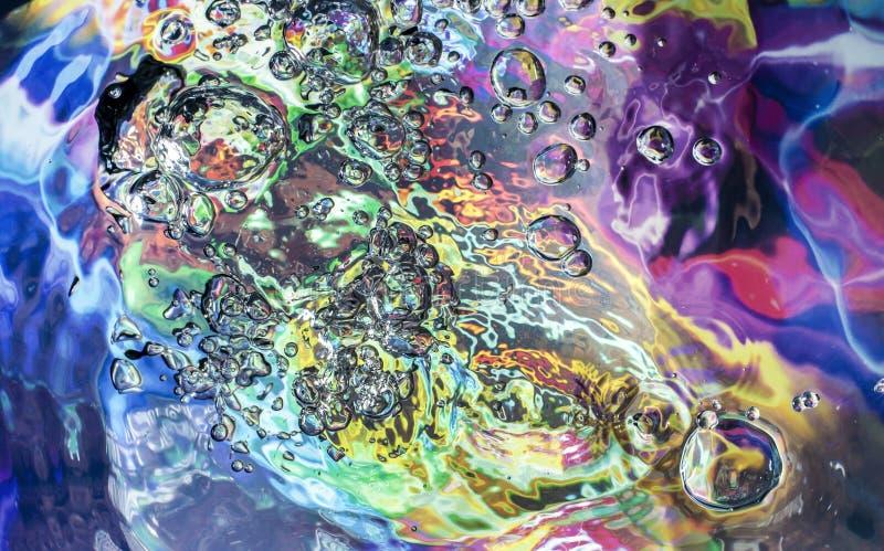 Colorful bubbles texture stock image