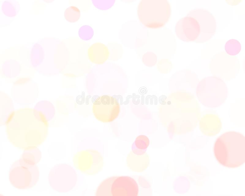 Colorful bubbles on white background, abstract background use for desktop wallpaper or website design, template background with stock illustration