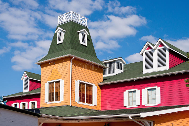 Colorful building. With dormer windows royalty free stock image