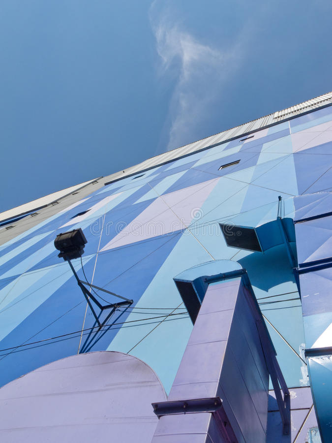 Colorful Building. A perspective of colorful building in Thailand royalty free stock photos