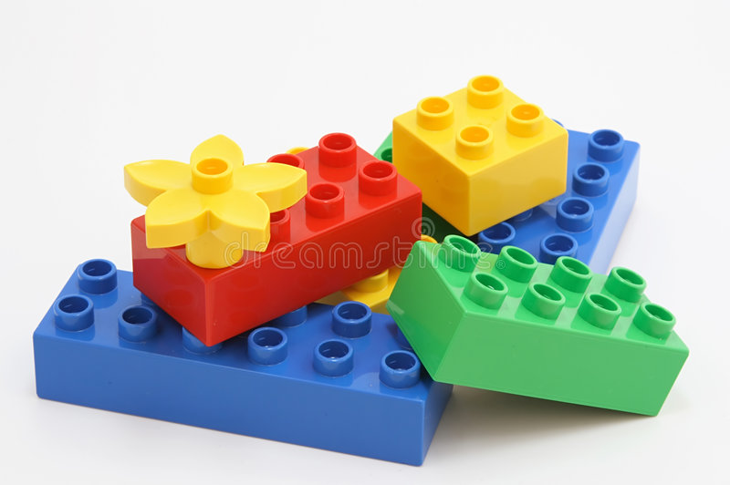 Colorful  Building Blocks Stock Image