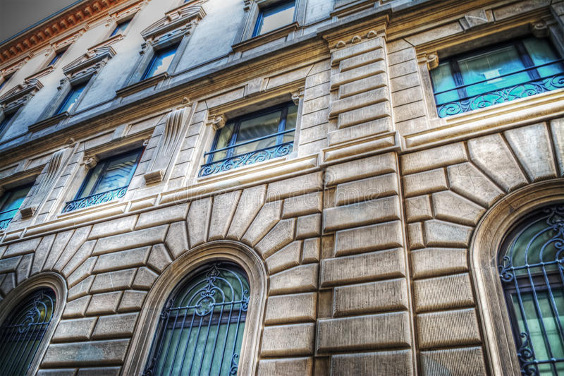 Colorful building facade in Florence. Italy royalty free stock photos
