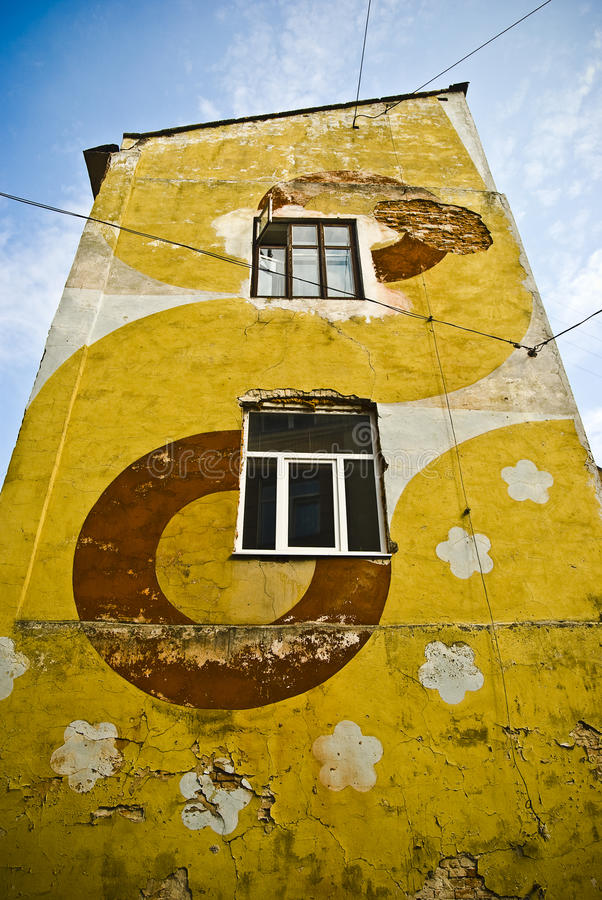 Download Colorful Building With A Modern Facade Pattern Stock Photo - Image: 10919954