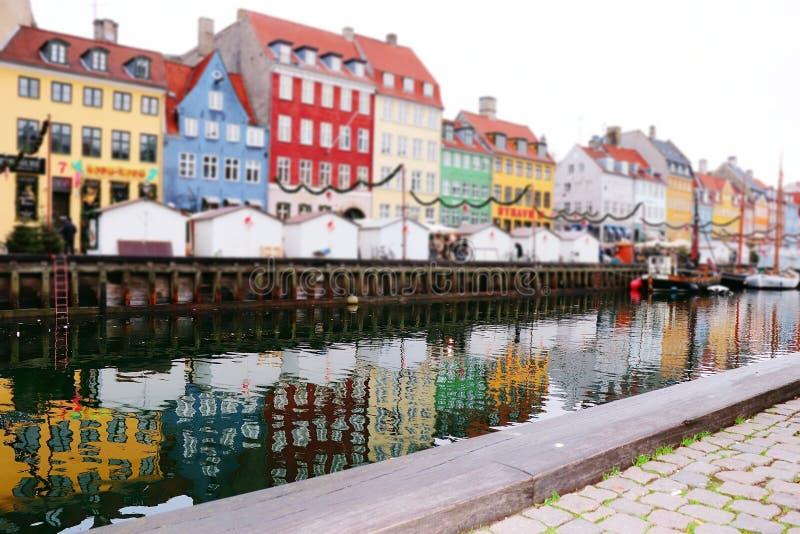 Colorful building in the river in nyhavn copenhagen danmark. Copenhagen danmark scenery royalty free stock photos
