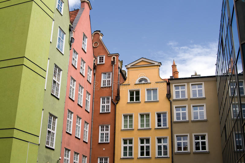 Colorful Buildings In Gdansk Poland Stock Photography