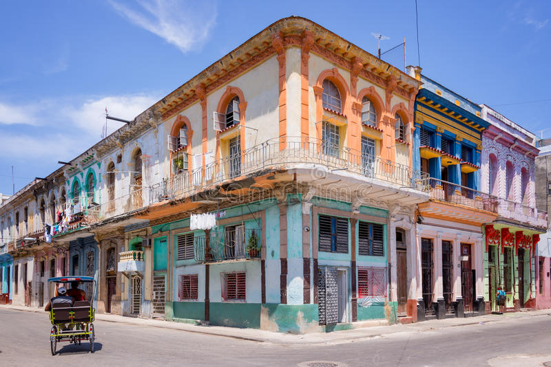 Colorful buildings in Havana royalty free stock image