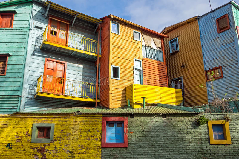 The colorful buildings of La Boca. In Buenos Aires royalty free stock photo