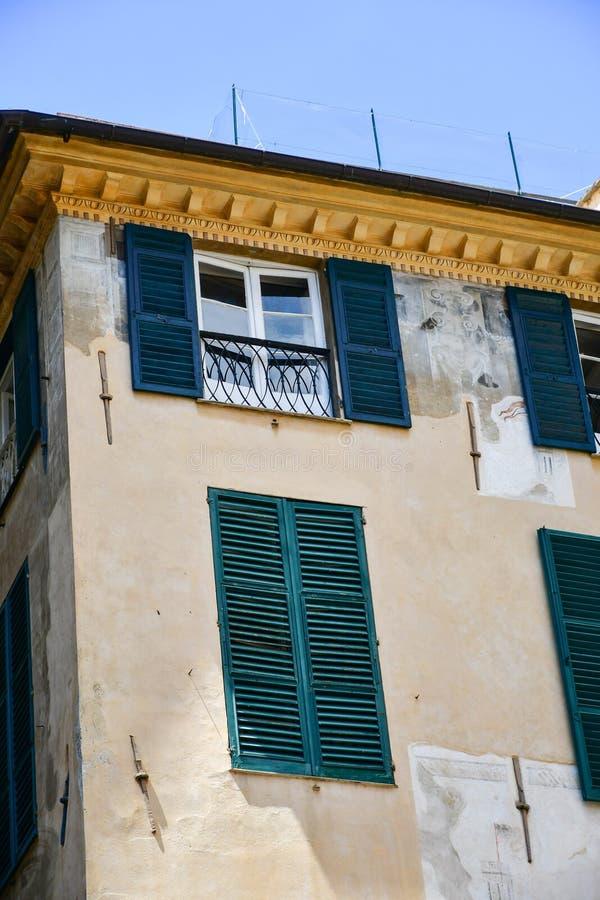 Le Strade Nuove Genoa , Italy. Colorful buildings at Le Strade Nuove in Genoa , Italy, Liguria region stock photos
