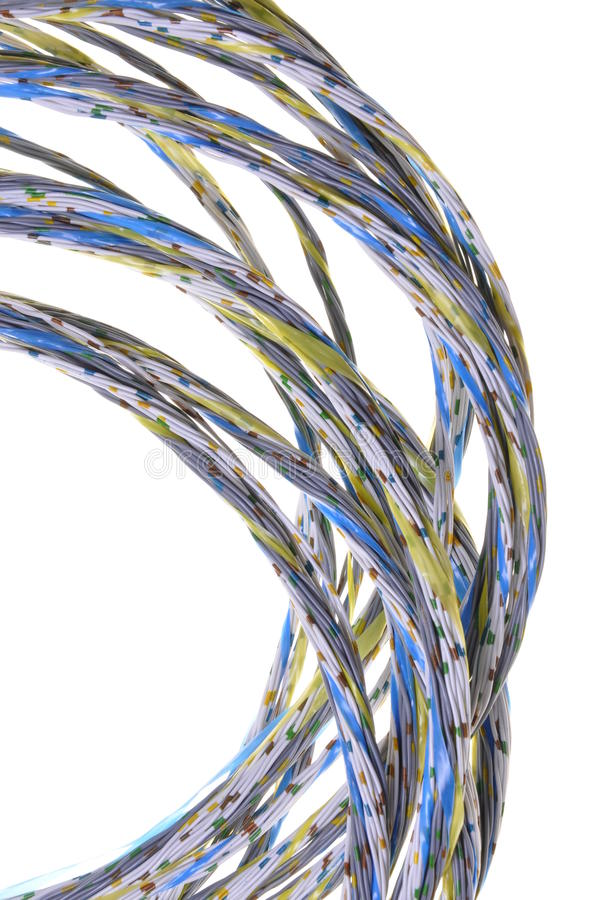 Colorful Bunches Of Cables, A Global Network Stock Photo