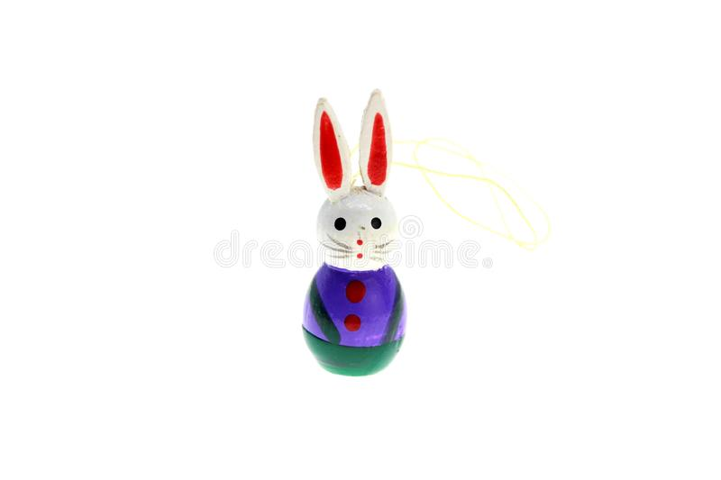 Easter bunny. Colorful bunnie on a with background royalty free stock photo