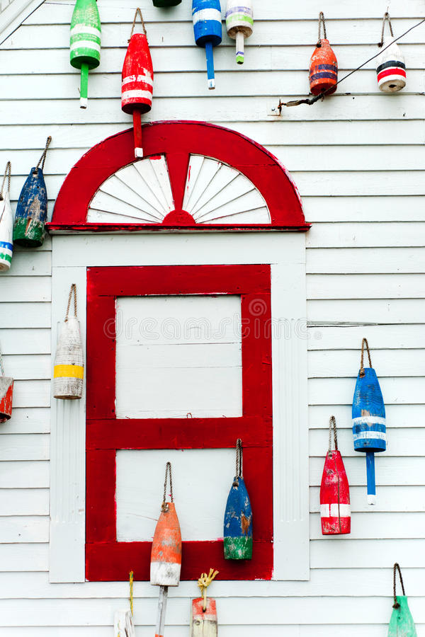 Colorful buoys royalty free stock photography