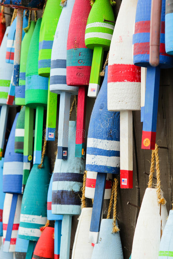 Colorful buoys stock image
