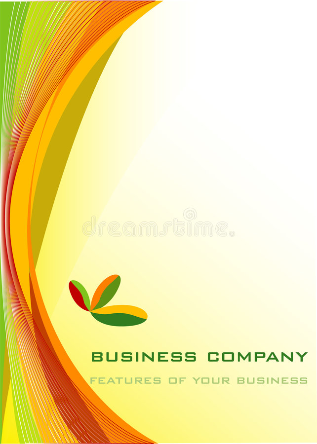 Colorful business royalty free illustration