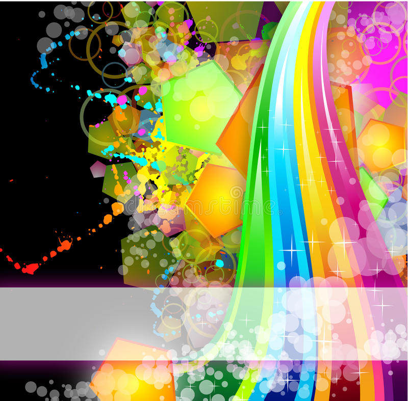 Colorful Business Background For Flyers Royalty Free Stock Photos