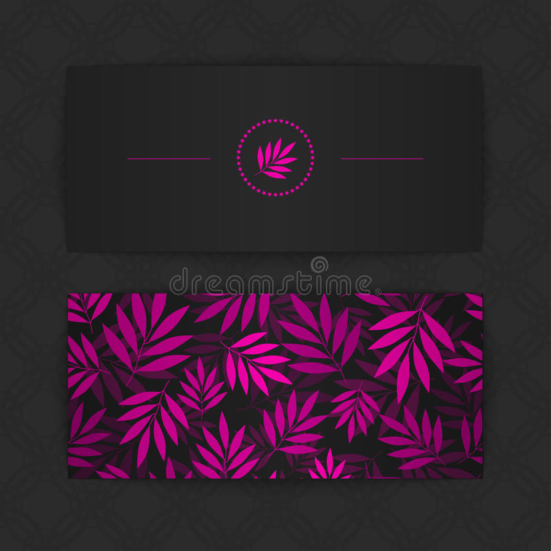 Download Colorful business cards stock vector. Image of leaf, blank - 43210324
