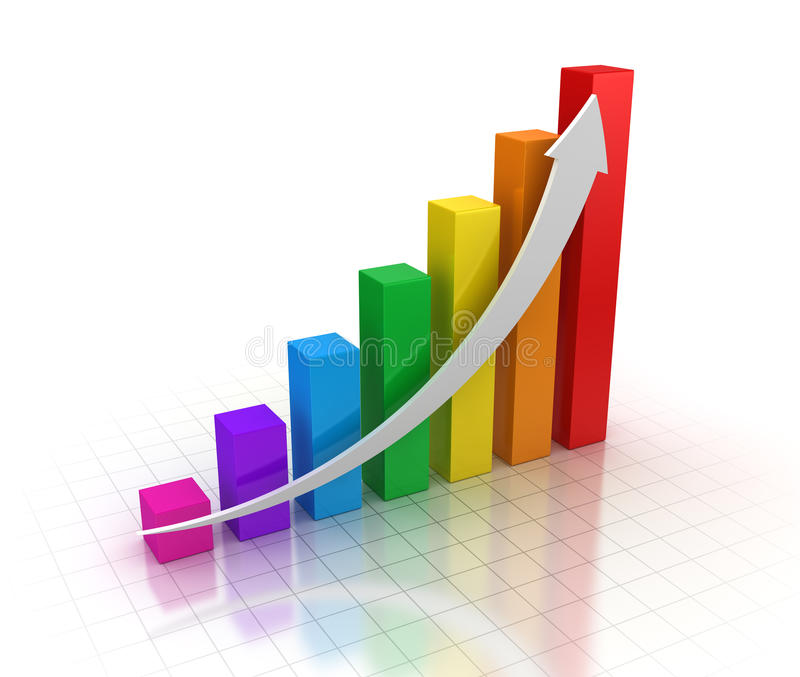 Colorful business chart stock illustration