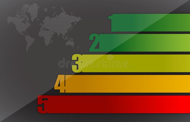 Download Colorful Business Graph And Map Stock Illustration - Image: 27574823