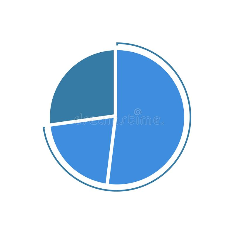 Colorful Business Pie Chart for Your Documents, Reports and Presentations, vector illustration. stock illustration